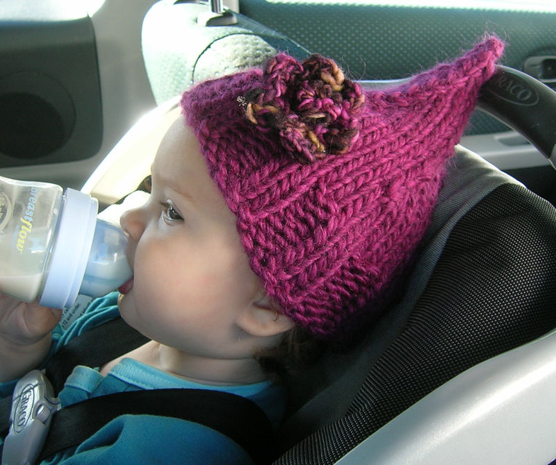 Cordelia 05 has made this baby even more adorable with the addition of this newly knitted cap.