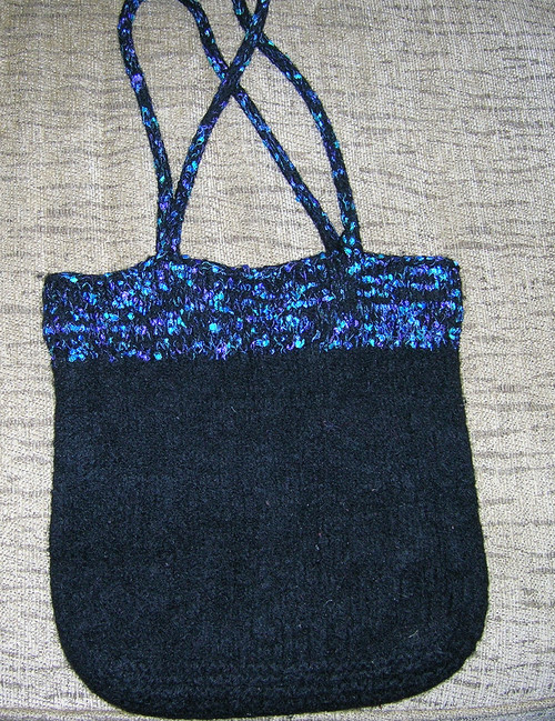 Black Felted Purse
